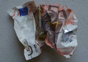 50 euro stropicciati